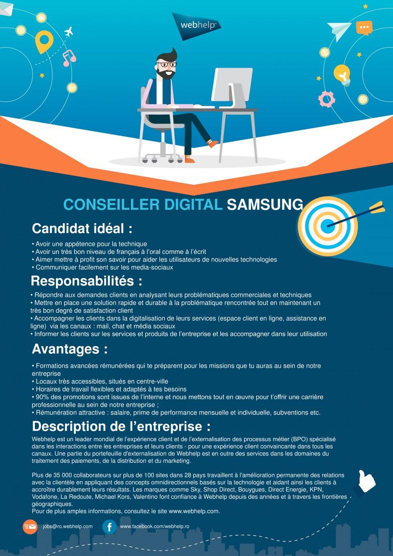conseiller digital samsung  webhelp romania