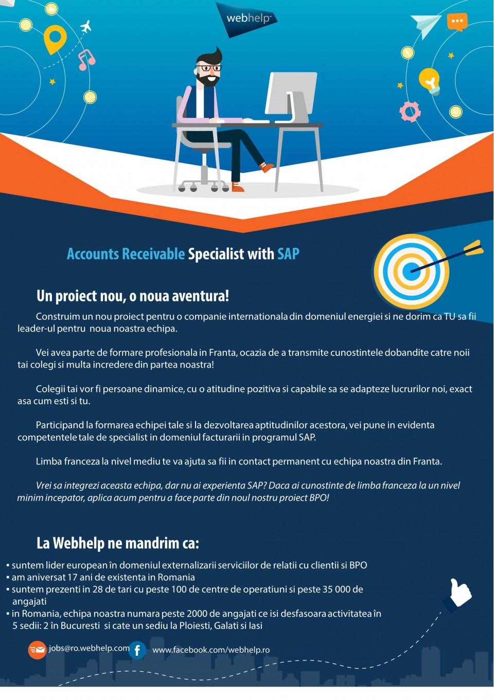 DESCRIPTION DE L'ENTREPRISE :Webhelp est un leader mondial de l'expérience client et de l'externalisation des processus métier (BPO) spécialisé dans les interactions entre les entreprises et leurs clients - pour une expérience client convaincante dans tous les canaux. Une partie du portefeuille d'externalisation de Webhelp est en outre des services dans les domaines du traitement des paiements, de la distribution et du marketing.Plus de 35 000 collaborateurs sur plus de 100 sites dans 28 pays travaillent à l'amélioration permanente des relations avec la clientèle en appliquant des concepts omnidirectionnels basés sur la technologie et aidant ainsi les clients à accroître durablement leurs résultats. Les marques comme Sky, Shop Direct, Bouygues, Direct Energie, KPN, Vodafone, La Redoute, Michael Kors, Valentino font confiance à Webhelp depuis des années et à travers les frontières géographiquesBasée à Paris, la société a augmenté son chiffre d'affaires de plus de 250% au cours des 4 dernières années, en investissant dans ses employés, dans l'environnement de travail et en développant ses capacités analytiques et opérationnelles pour proposer une solution transformationnelle d'outsourcing répondant aux défis d'un monde omni-canal. Depuis mars 2016, l'investisseur financier KKR détient une participation dans Webhelp.Pour de plus amples informations, consulter le site www.webhelp.com.