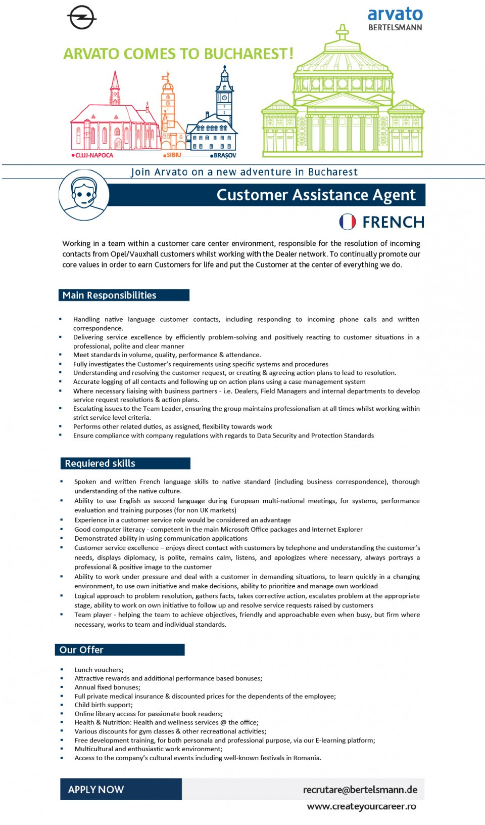 Customer Assistance Agent - FRENCH