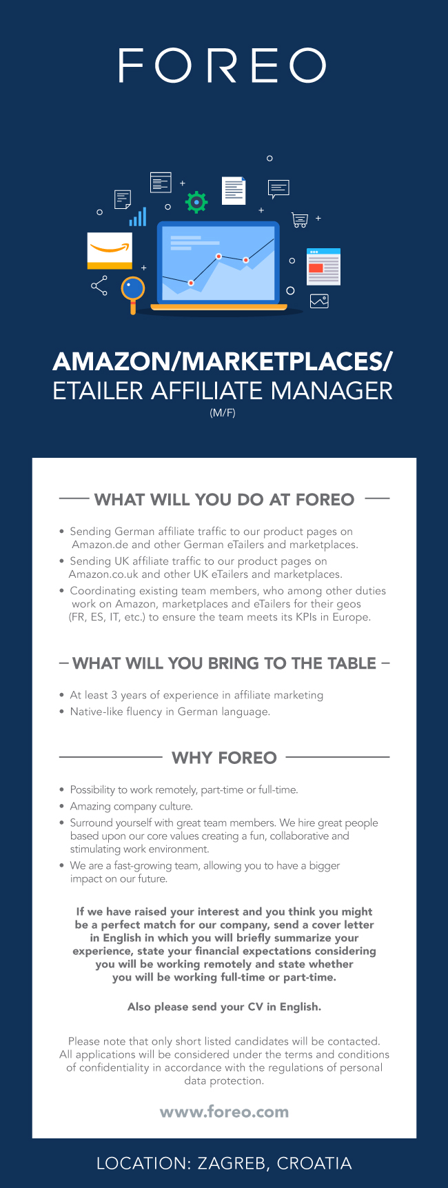 AMAZON/MARKETPLACES/ETAILER AFFILIATE MANAGER, FOREO EUROPE ...