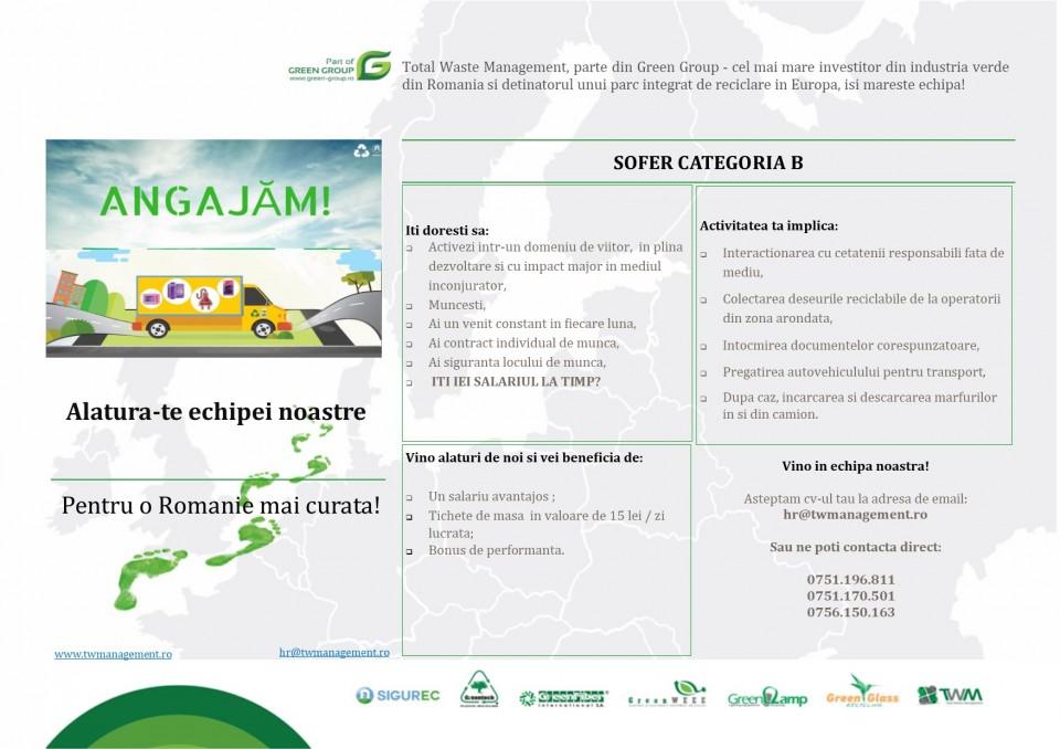 Total Waste Management este un furnizor important de servicii de management al deseurilor ce operează la nivel national. Compania este parte din Green Group, cel mai mare investitor din industria verde din România și deținătorul unui important parc integrat de reciclare din Europa.