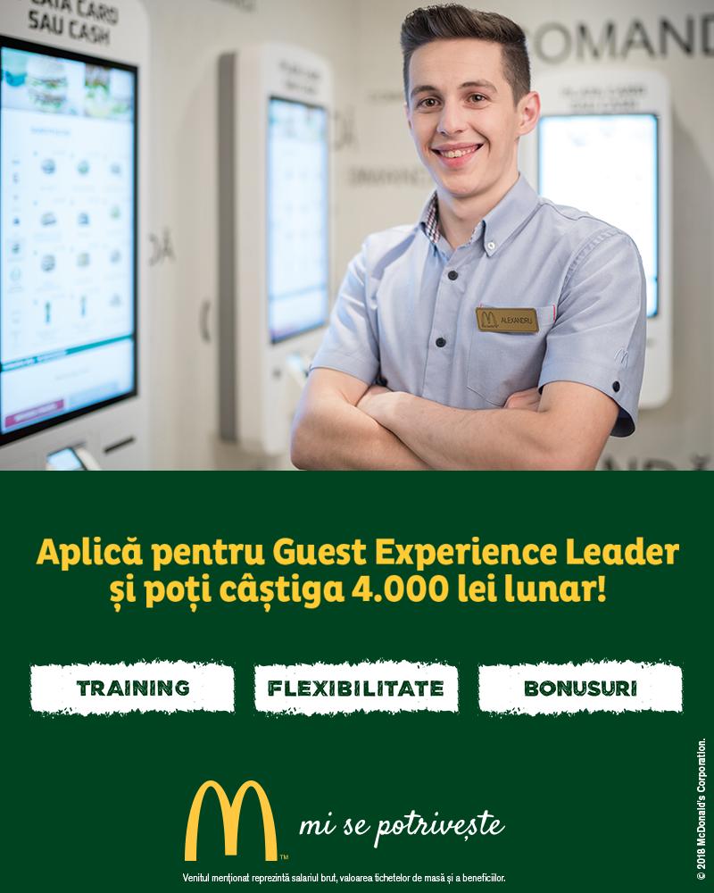 McDonald's în RomâniaÎncepând cu anul 2016, McDonald's este parte a familiei Premier Capital, care este şi partenerul pentru dezvoltare a restaurantelor McDonald's din Estonia, Grecia, Letonia, Lituania şi Malta. Premier Capital operează 131 de restaurante în zone de top, mai mult de jumătate dintre ele fiind cu McDrive şi numeroase cafenele McCafé. În România, McDonald's este lider al pieţei restaurantelor, cu 72 de restaurante în 21 de oraşe. Până în prezent, McDonald's a investit peste 700 de milioane de lei în România, are 4.000 de angajaţi şi primeşte zilnic peste 180.000 clienţi. În 2015 a fost desemnat cel mai bun angajator pentru al doilea an consecutiv, conform AON Hewitt România.Misiunea McDonald'sMisiunea noastră, la McDonald's, este aceea de a fi mereu restaurantul preferat al clienţilor noştri.McDonald's este cel mai mare lanţ de restaurante cu servire rapidă din lume, cu peste 32.000 de restaurante care servesc zilnic peste 60 de milioane de oameni în peste 100 de ţări.http://mcdonalds.ro