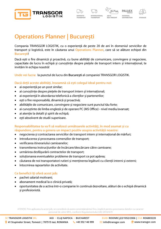 TRANSGOR LOGISTIK este o companie ce presteaza servicii de depozitare, expeditii interne si internationale, transporturi rutiere, maritime si aeriene de marfa in toata Europa. Sediul societatii este in Iasi si are puncte de lucru in Cluj-Napoca si Bucuresti. Societatea are implementat sistemul de Management Integrat Calitate-Mediu conform ISO 9001:2015 & ISO 14001:2015 de catre TUV Rheinland. Suntem membri ai Uniunii Societatilor de Expeditie din Romania si ai Asociatiei Romane de Transport Rutier International Prin USER suntem afiliati FIATA (Federation Internationale des Associations de Transitaires et Assimiles), organizatia mondiala a transportatorilor.