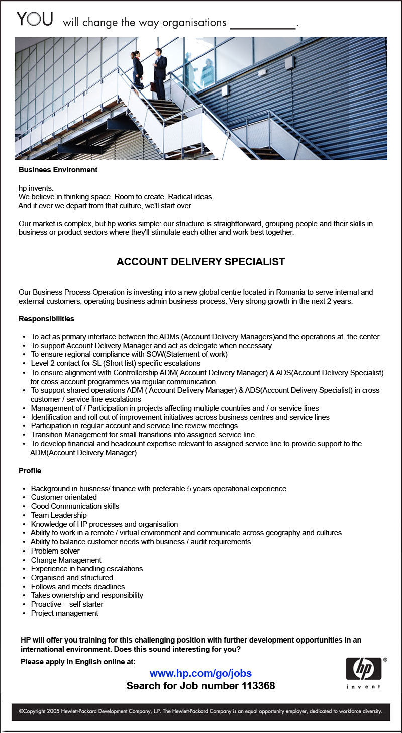 Account Delivery Specialist