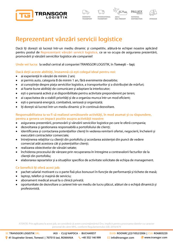 TRANSGOR LOGISTIK este o companie ce presteaza servicii de depozitare, expeditii interne si internationale, transporturi rutiere, maritime si aeriene de marfa in toata Europa. Sediul societatii este in Iasi si are puncte de lucru in Cluj-Napoca si Bucuresti. Societatea are implementat sistemul de Management Integrat Calitate-Mediu conform ISO 9001:2015 & ISO 14001:2015de catre TUV Rheinland. Suntem membri ai Uniunii Societatilor de Expeditie din Romania si ai Asociatiei Romane de Transport Rutier International Prin USER suntem afiliati FIATA (Federation Internationale des Associations de Transitaires et Assimiles), organizatia mondiala a transportatorilor.