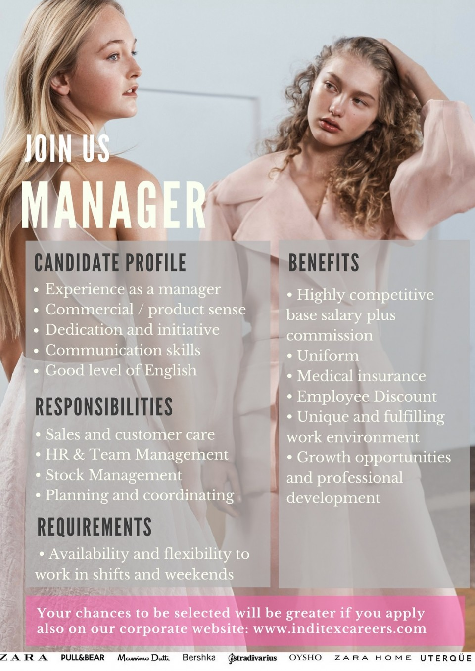 Join our team as a: