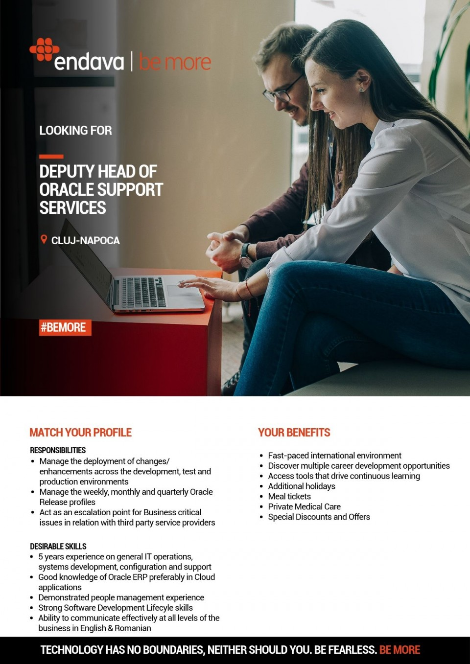 Minimum 5 years experience on general IT operations and systems development, configuration and support