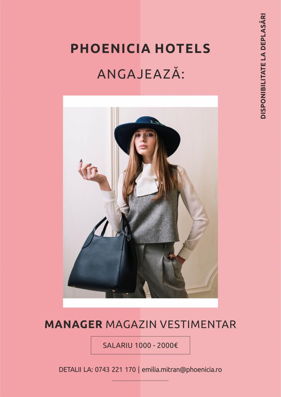 Manager Magazin Vestimentar
