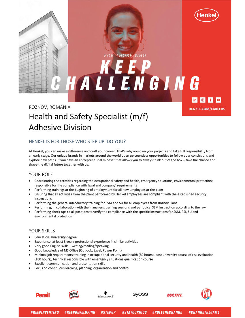 Health and Safety Specialist (m/f)