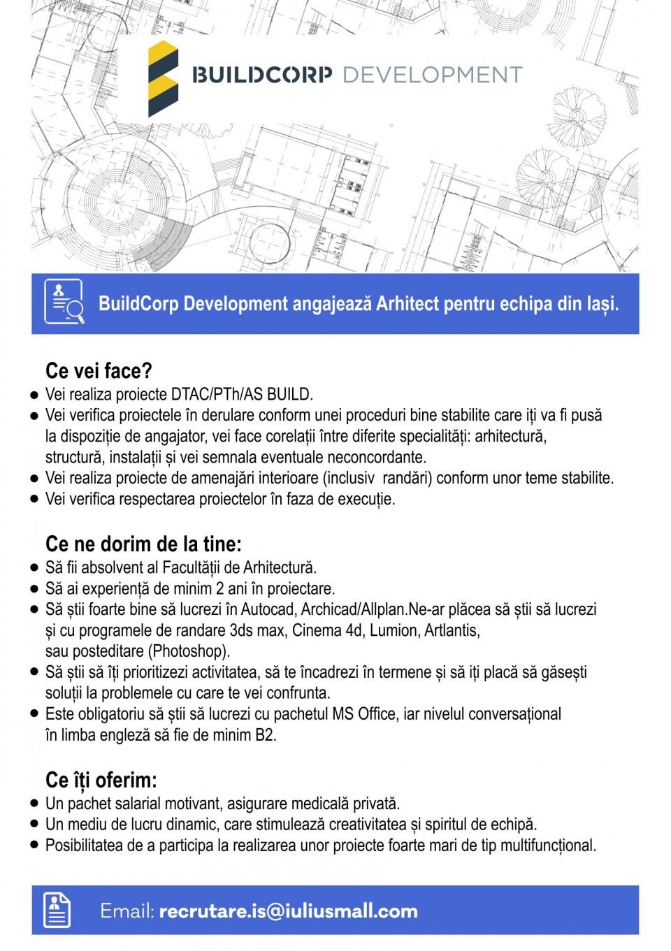 Iasi Build Corp Development Development Arhitect