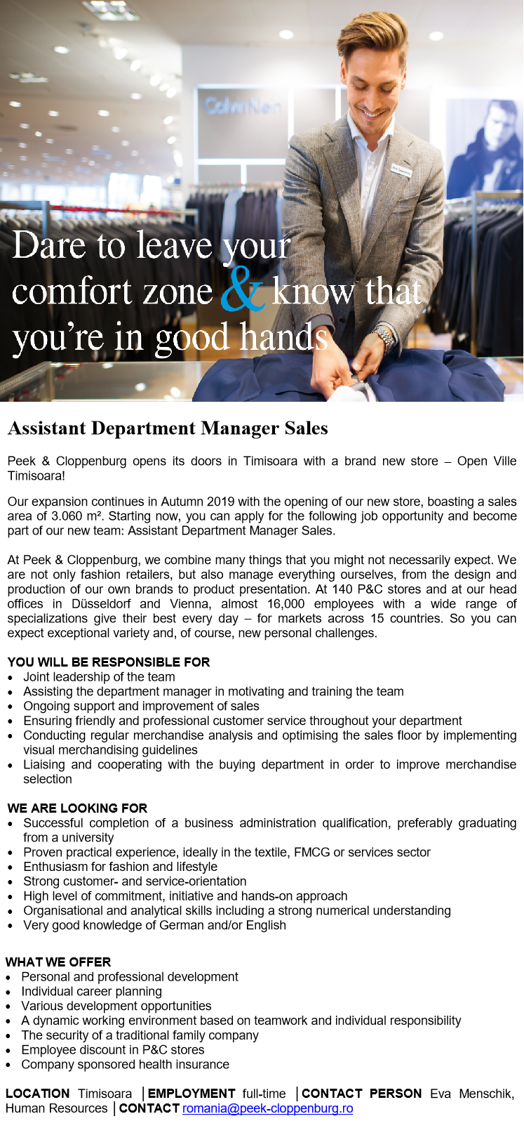 Assistant Department Manager Sales 