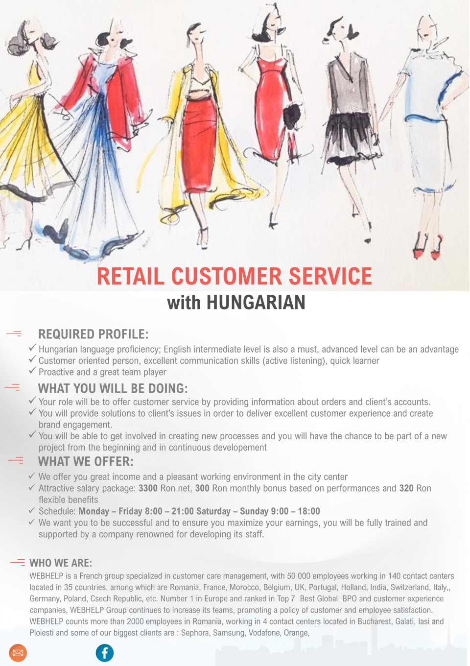RETAIL CUSTOMER SERVICe with HUNGARIAN