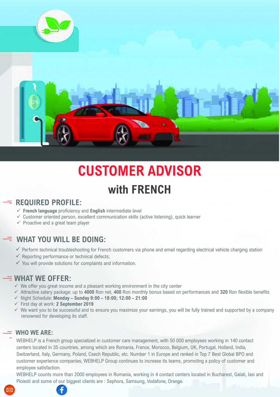 CUSTOMER ADVISOR with French