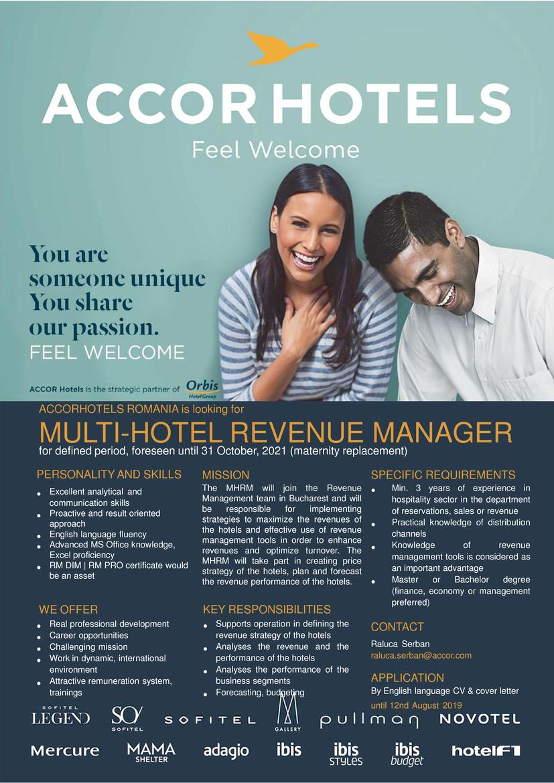 multi-hotel revenue manager  accor hotels romania