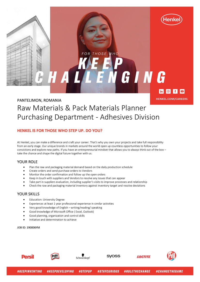 ROMANIA, PANTELIMON, ADHESIVE TECHNOLOGIES