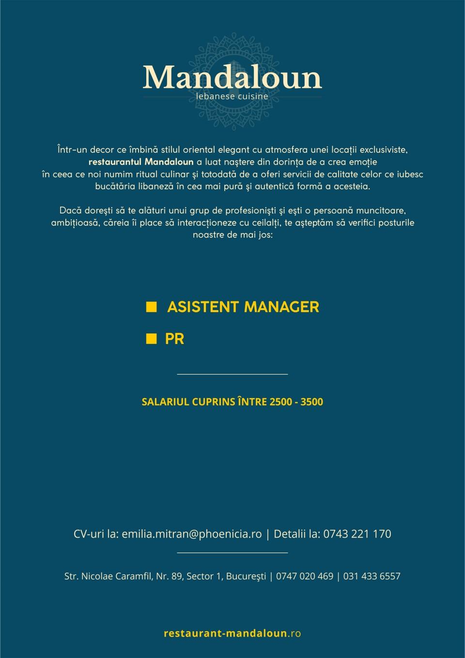 Asistent manager, PR