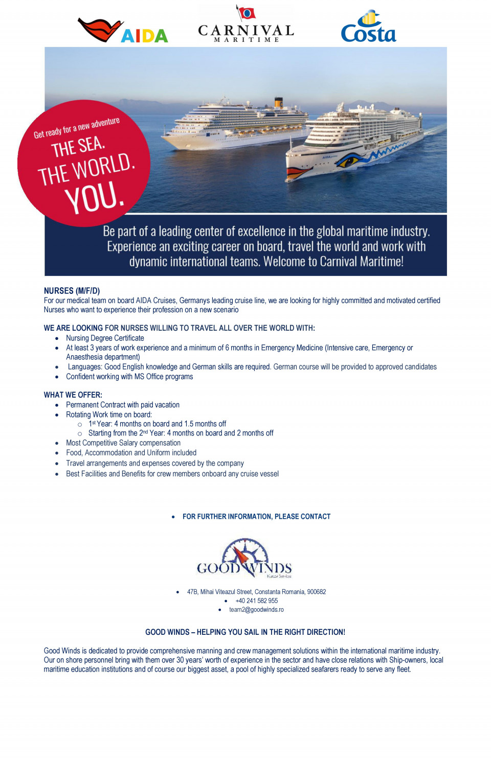 NURSES (M/F/D)