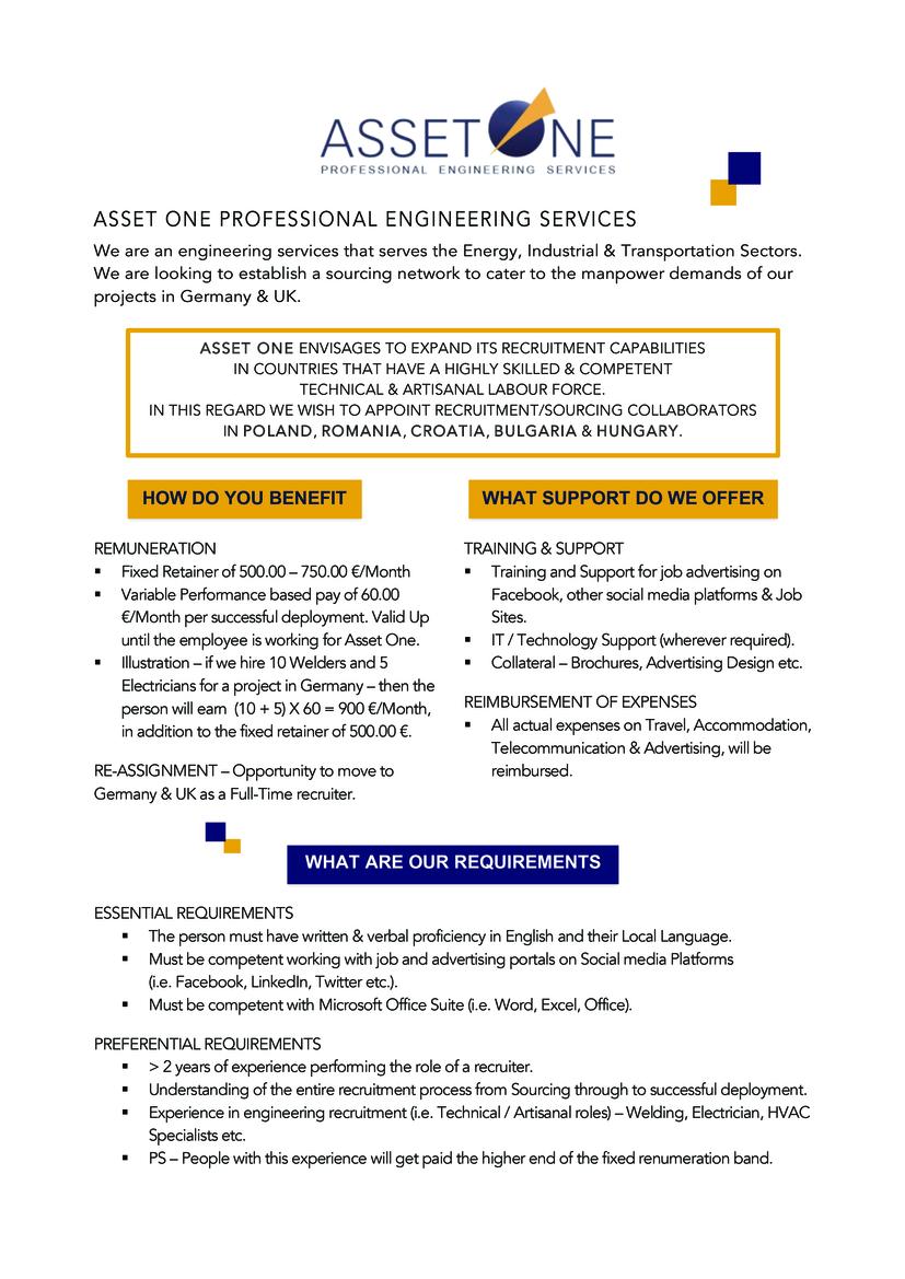 Sourcing/ Recruitment Collaborator