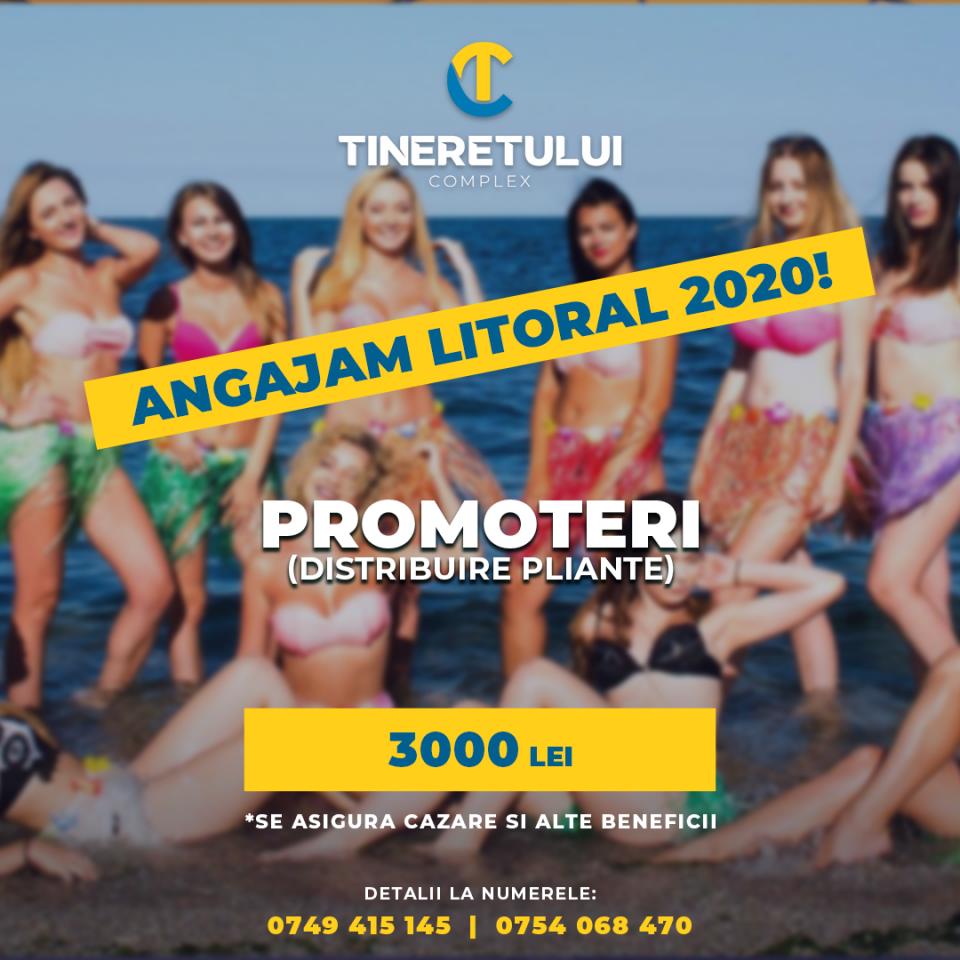 promoter- Distribuire Pliante- Litoral 2020- Salariu 3000 Lei