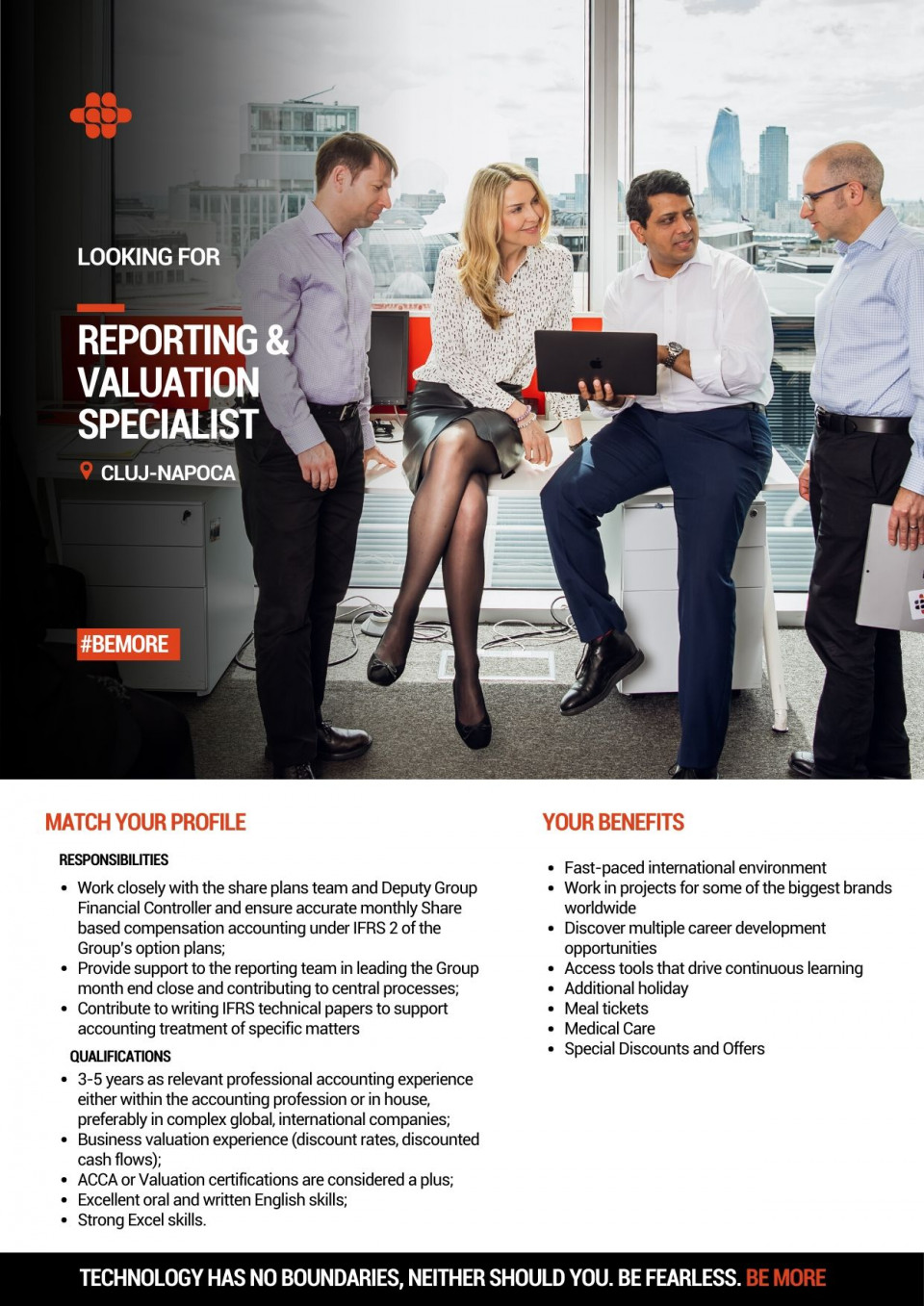 """A relevant professional accountancy qualification: Chartered Accountant (ACCA or equivalent, studies in progress accepted at a professional level), Valuation qualification is a plus; Several years of relevant professional accounting experience either within the accounting profession or in house, preferably in complex global, international companies; Business valuation experience (discount rates, discounted cash flows); Detailed understanding of financial statements reported under IFRS; Strong financial analytical skills; An enthusiasm to embrace new technologies and the new ways of workings derived from them. Comfortable challenging existing processes to find improvements and minimize risks; Very good communication, networking, and influencing skills with sensitivity to working across multi-cultural teams. Ability to operate effectively in an ever-changing and demanding work environment; Excellent oral and written English skills; Strong Excel skills.   Work closely with the share plans team and Deputy Group Financial Controller (""""DGFC"""") and ensure accurate monthly Share-based compensation accounting under IFRS 2 of the Group's option plans; Provide support to the reporting team in leading the Group month-end close and contributing to central processes; Prepare impairment tests for the Group's Intangibles and Goodwill and Investment in subsidiaries; Participate in coordination of the Group financial audit and support local financial audits. Work closely with the DGFC and Group Financial Controller (""""GFC"""") in the M&A process, from due diligence phase to preparation of completion accounts; Build and implement an integration reporting pack to be used for monthly actuals reporting by newly acquired businesses. Work closely with the FP&A team to facilitate this; Contribute to writing IFRS technical papers to support accounting treatment of specific matters; Own controls documentation under SOX for assigned areas.  Endava is a leading European IT services organisation with"""