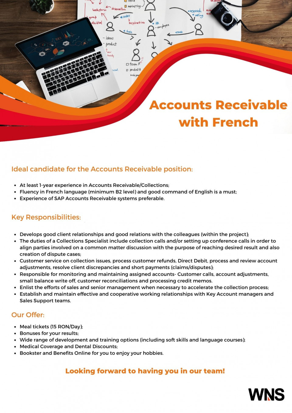 Ideal candidate for the Accounts Receivable position: