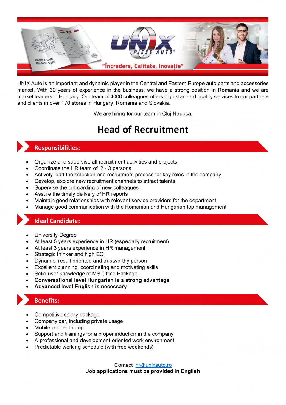 Head of Recruitment