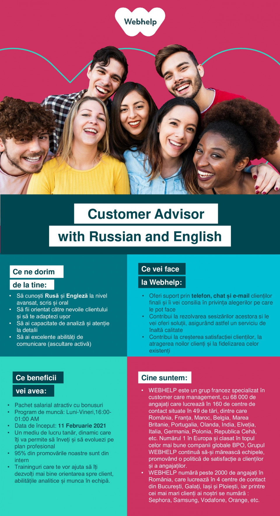 Customer Advisor with Russian and English