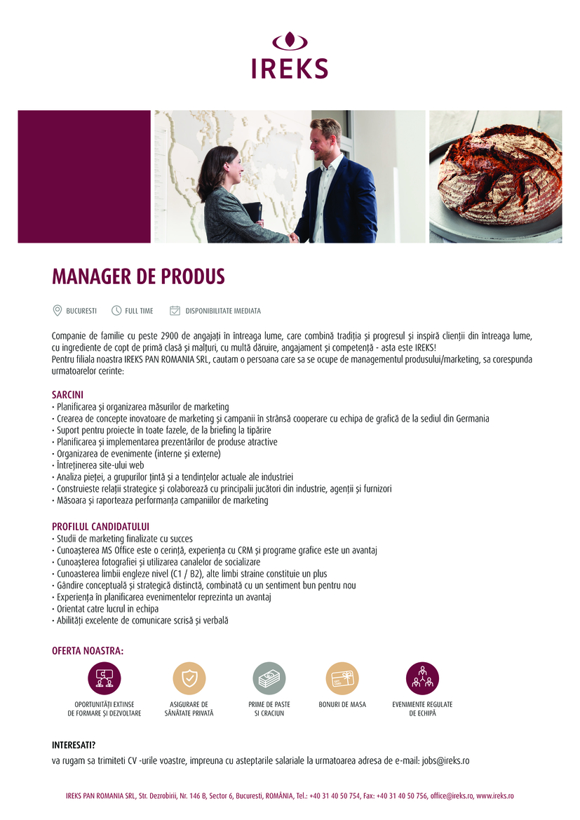 MANAGER DE PRODUS