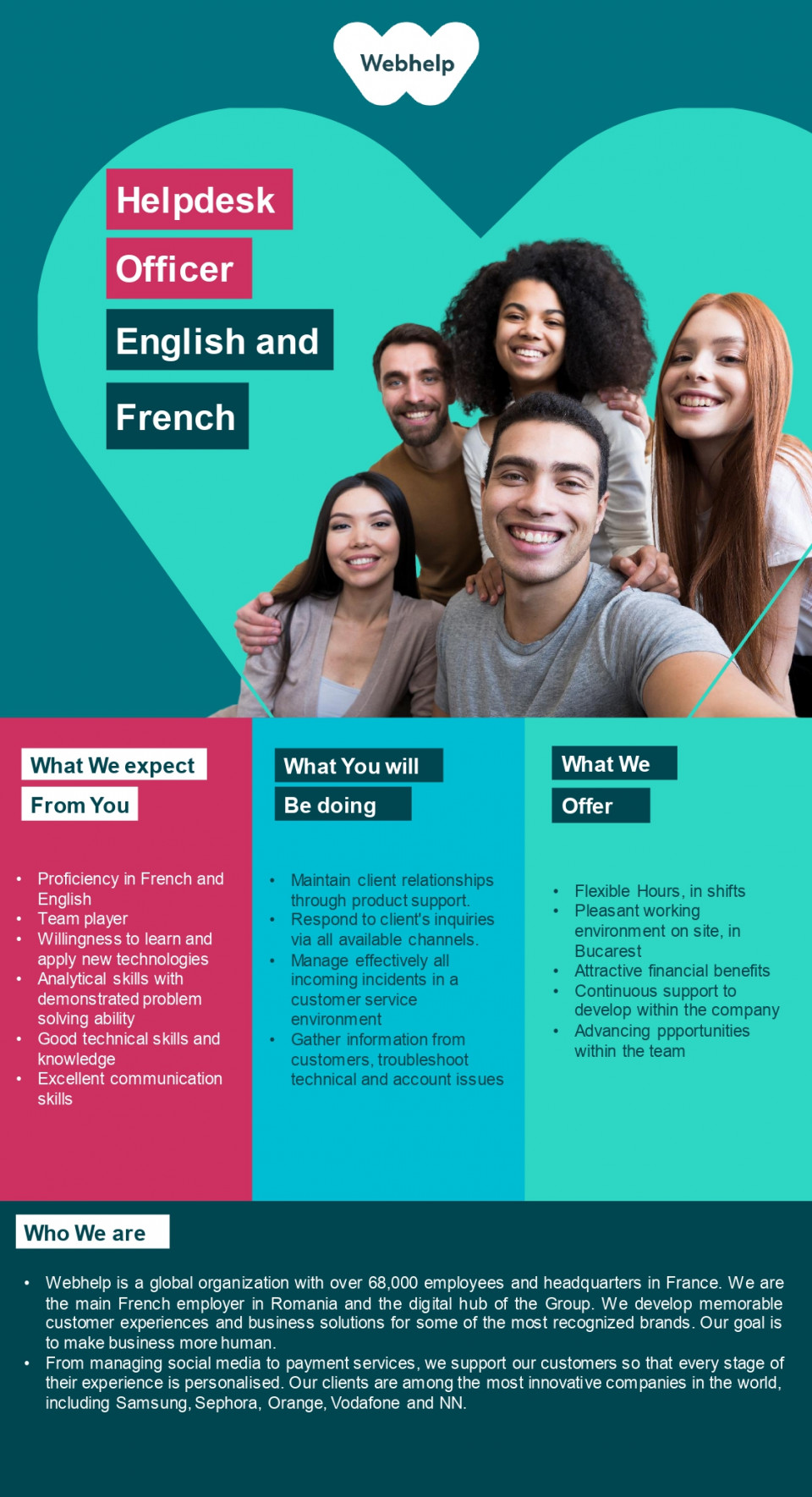 Helpdesk Specialist with French and English  helpdesk, helpdesk specialist,French , English , support, technical support, desktop support