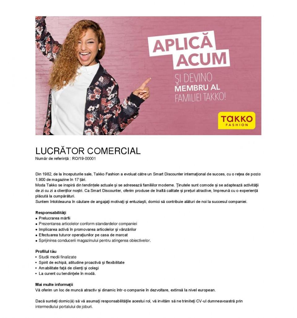 Lucrator comercial – Medias, Valcea, Alba, Sighet, Mioveni