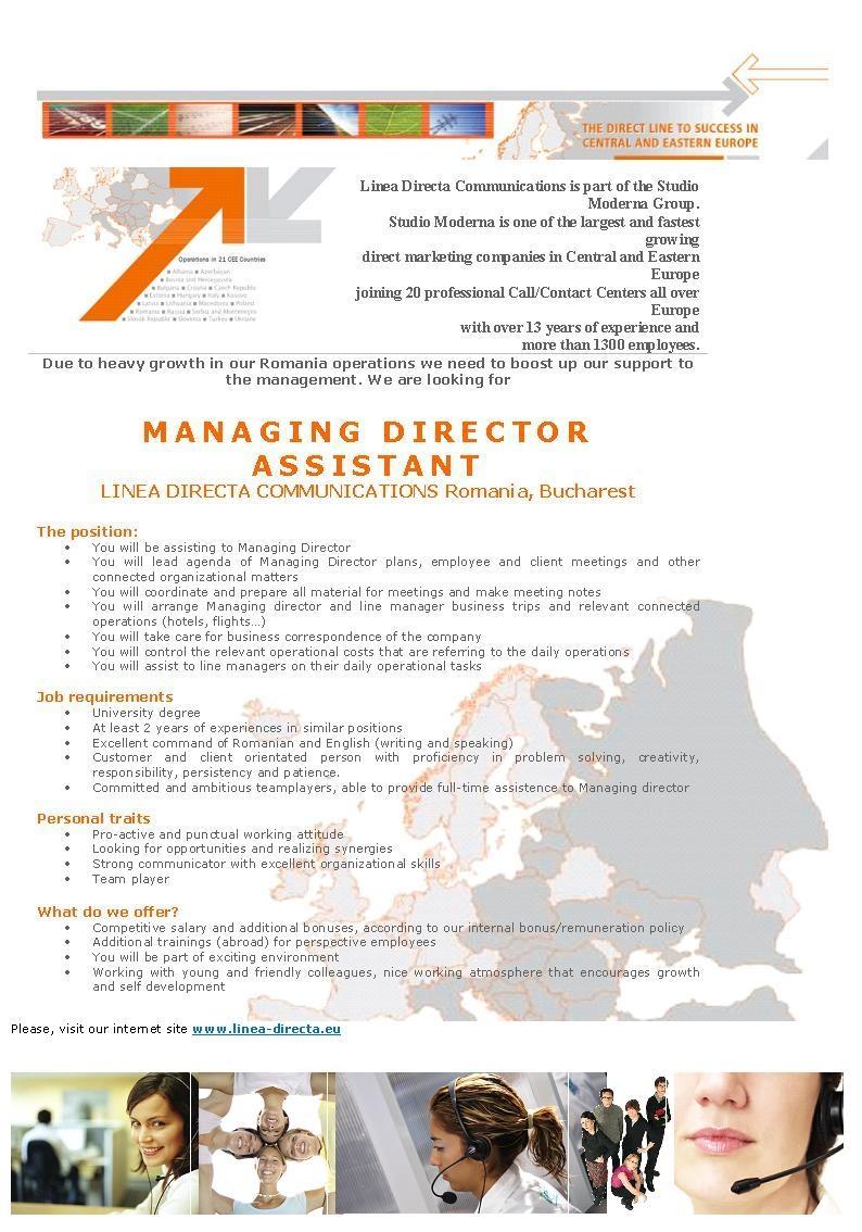 Managing Director Assistant