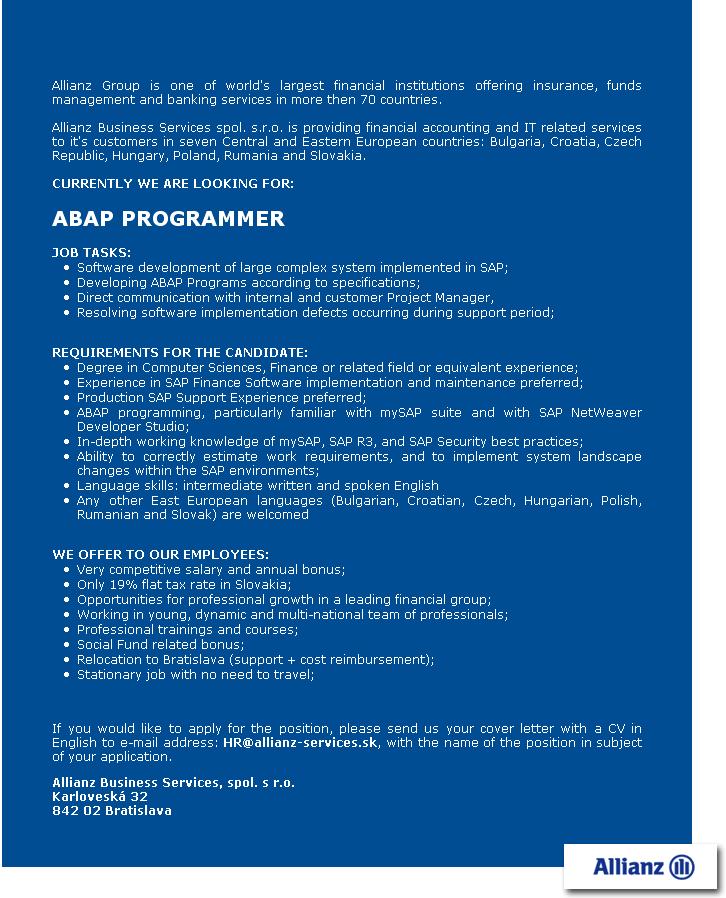 ABAP PROGRAMMER