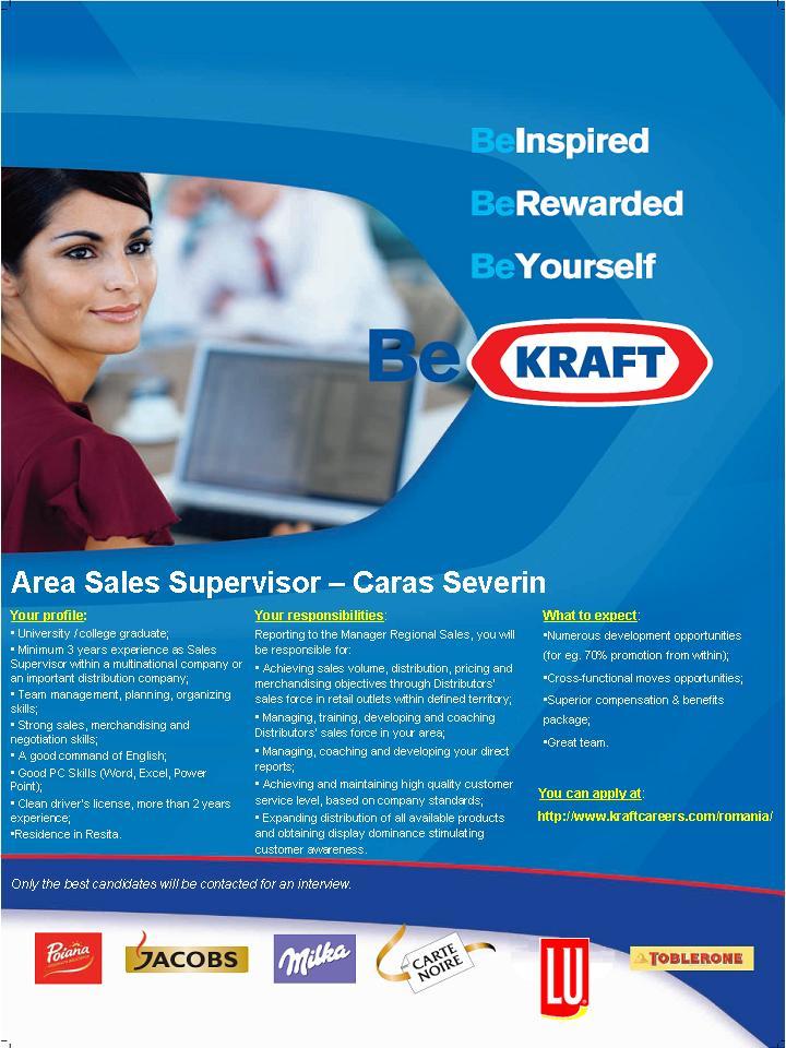 Area Sales Supervisor Caras Severin