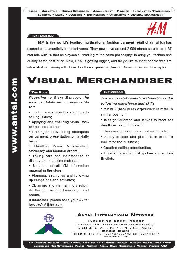 Entry Level Visual Merchandiser Cover Letter