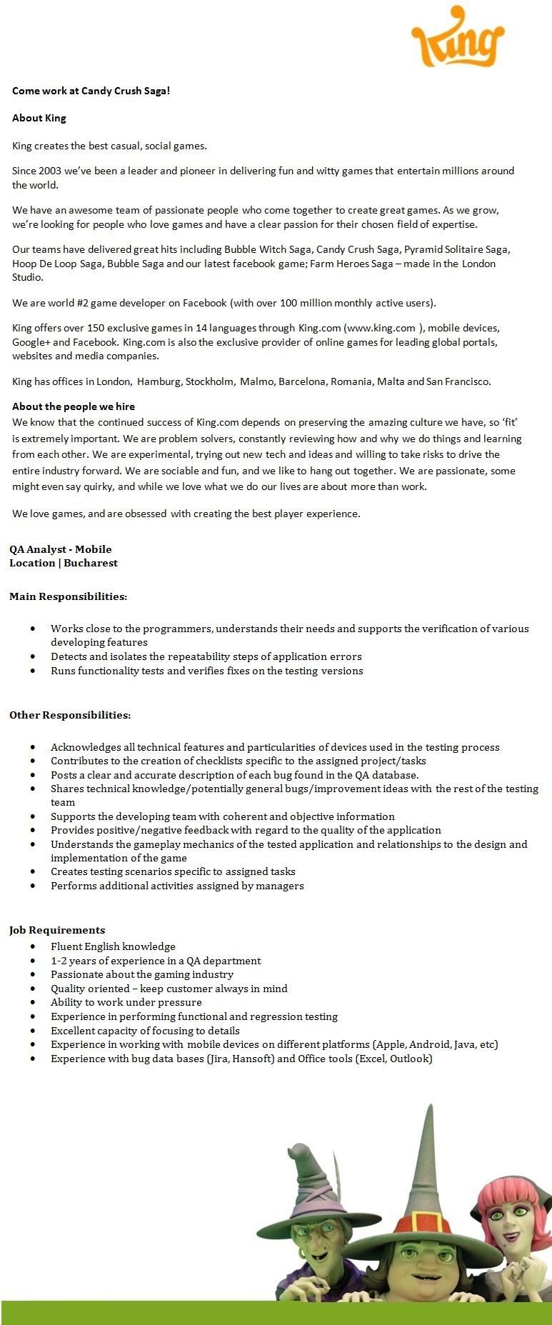 QA Analyst - Mobile