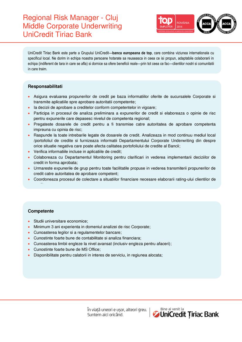 Unicredit Tiriac Bank Cluj