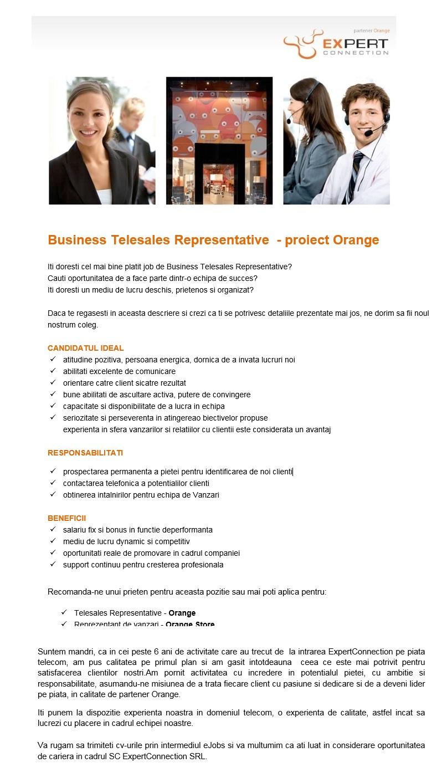 Orange relatii clienti business plan