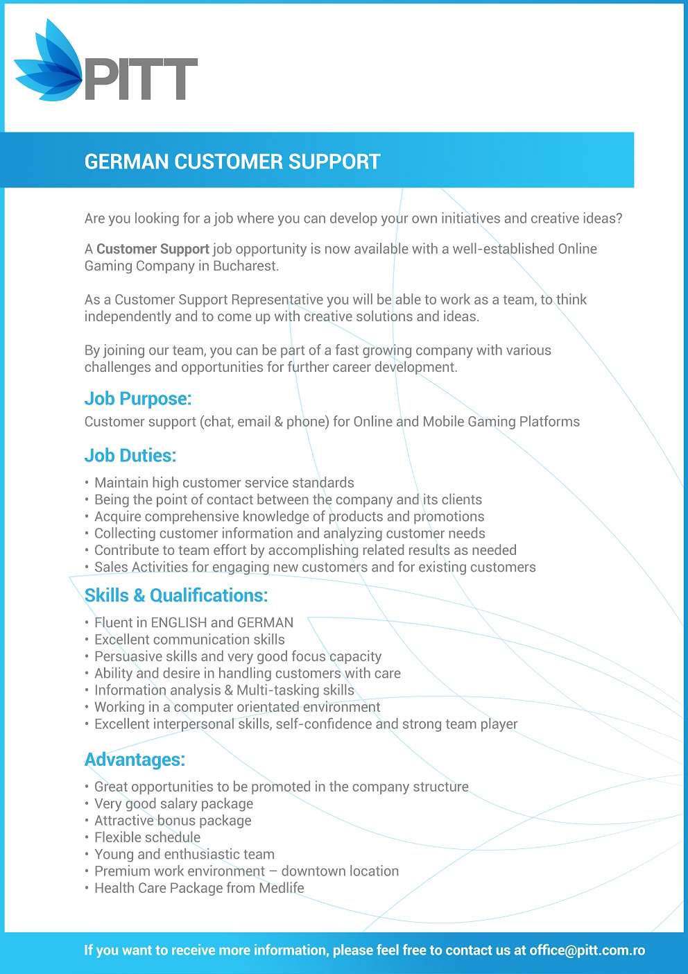 customer support deutsch