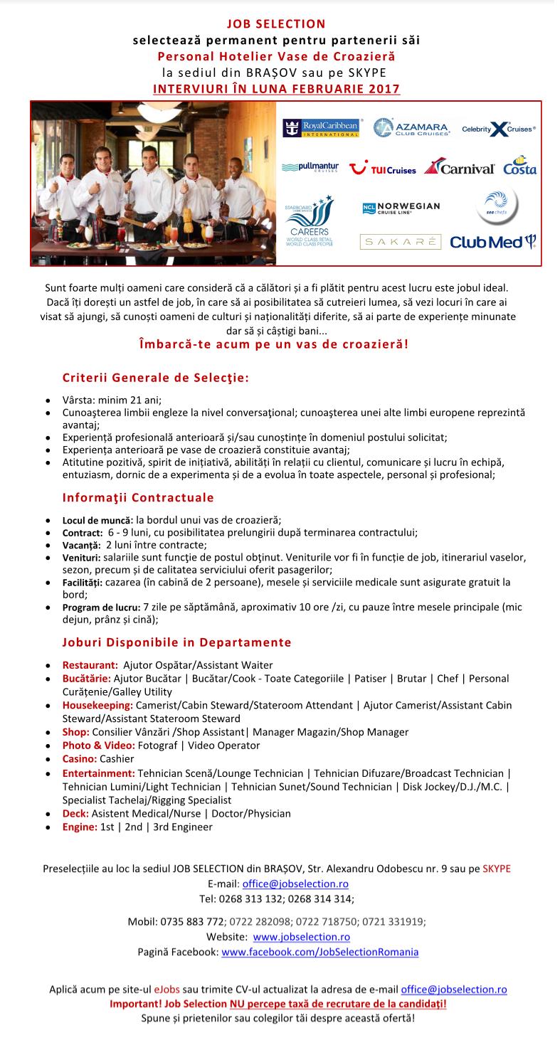 JOBURI PE VASE DE CROAZIERĂ - INTERVIURI LUNA FEBRUARIE 2017