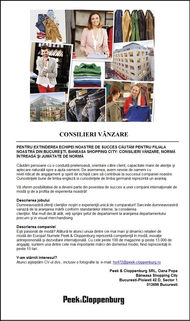 CONSILIERI VANZARE - BANEASA SHOPPING CITY