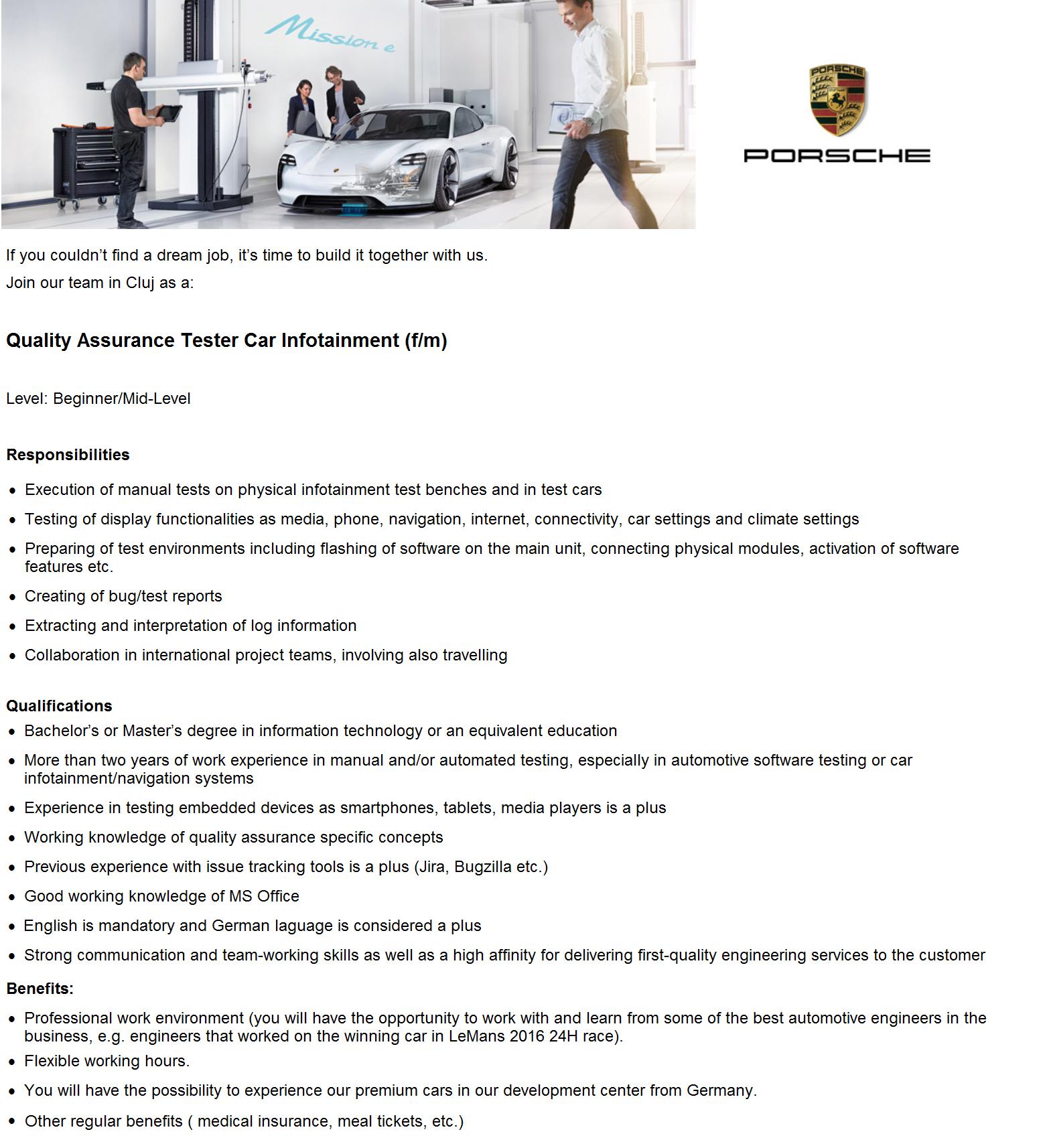 Quality Assurance Tester Car Infotainment (f/m)
