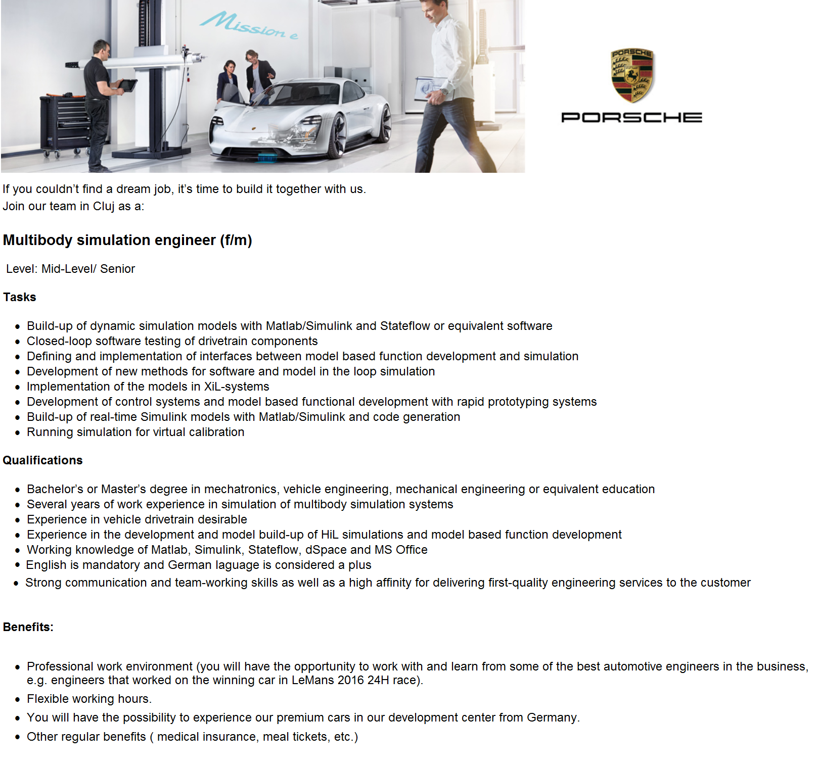 Multibody simulation engineer (f/m)