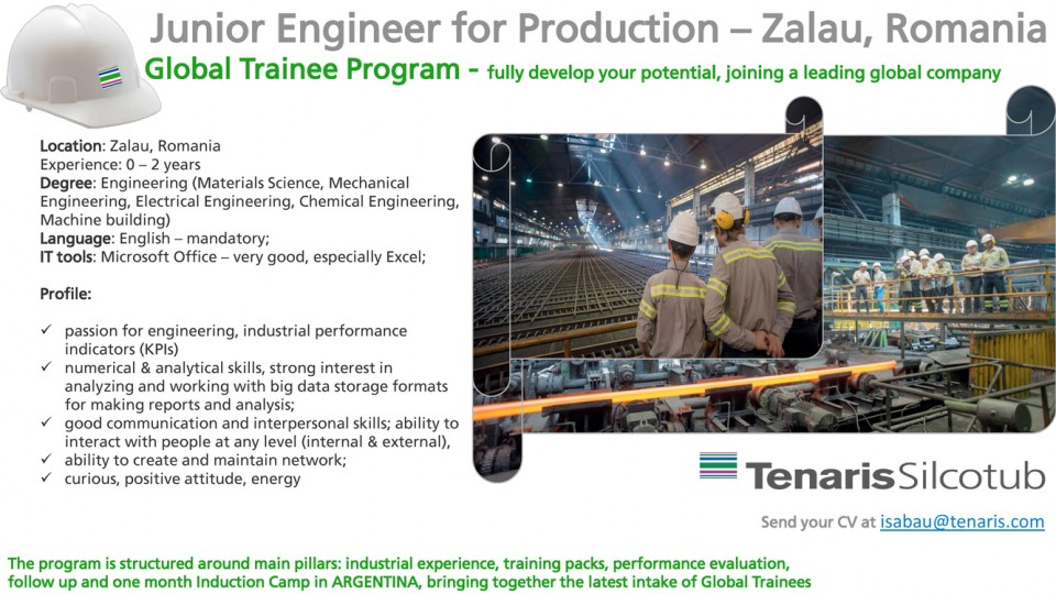 Junior Engineer for Production - Zalau, Romania