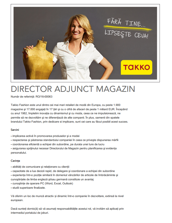DIRECTOR ADJUNCT MAGAZIN