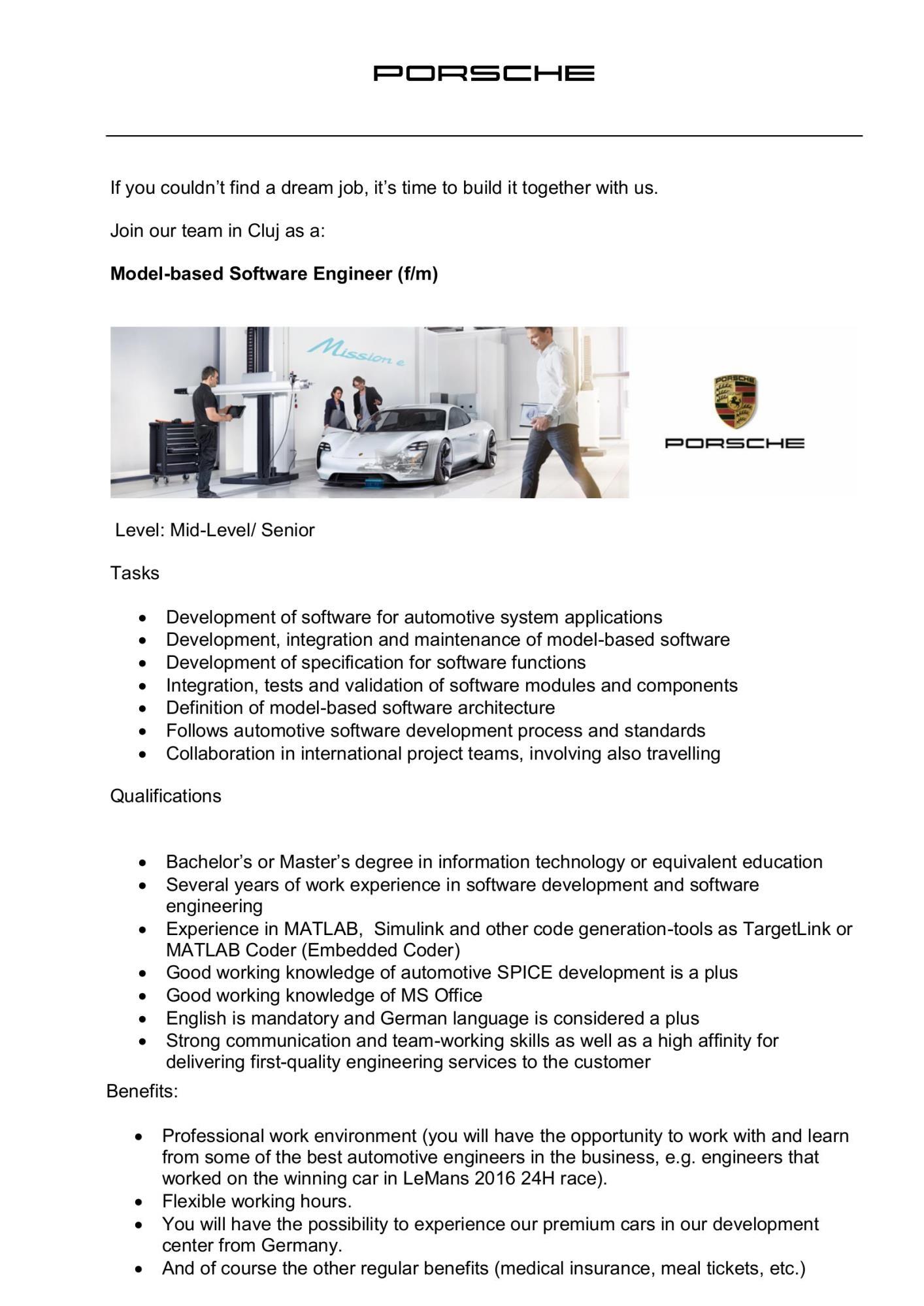 Model-based Software Engineer (f/m)