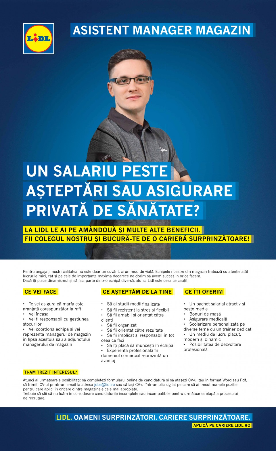Asistent Manager Magazin - Slobozia  (f/m)