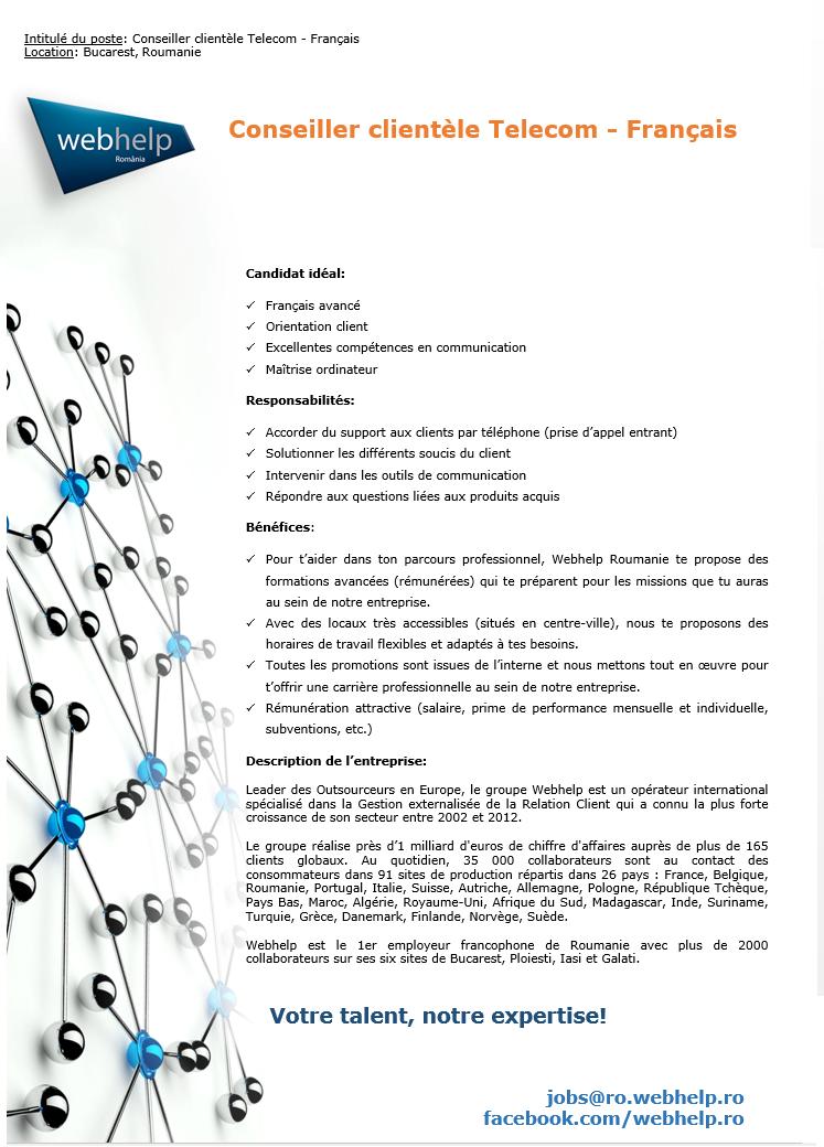 Conseiller clientèle Telecom - Français