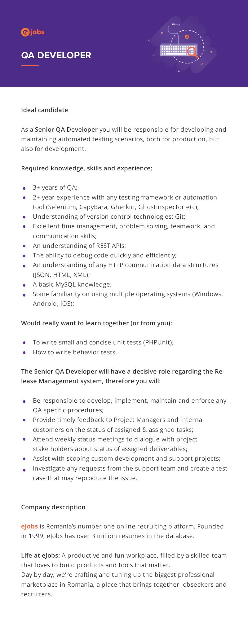 QA Developer