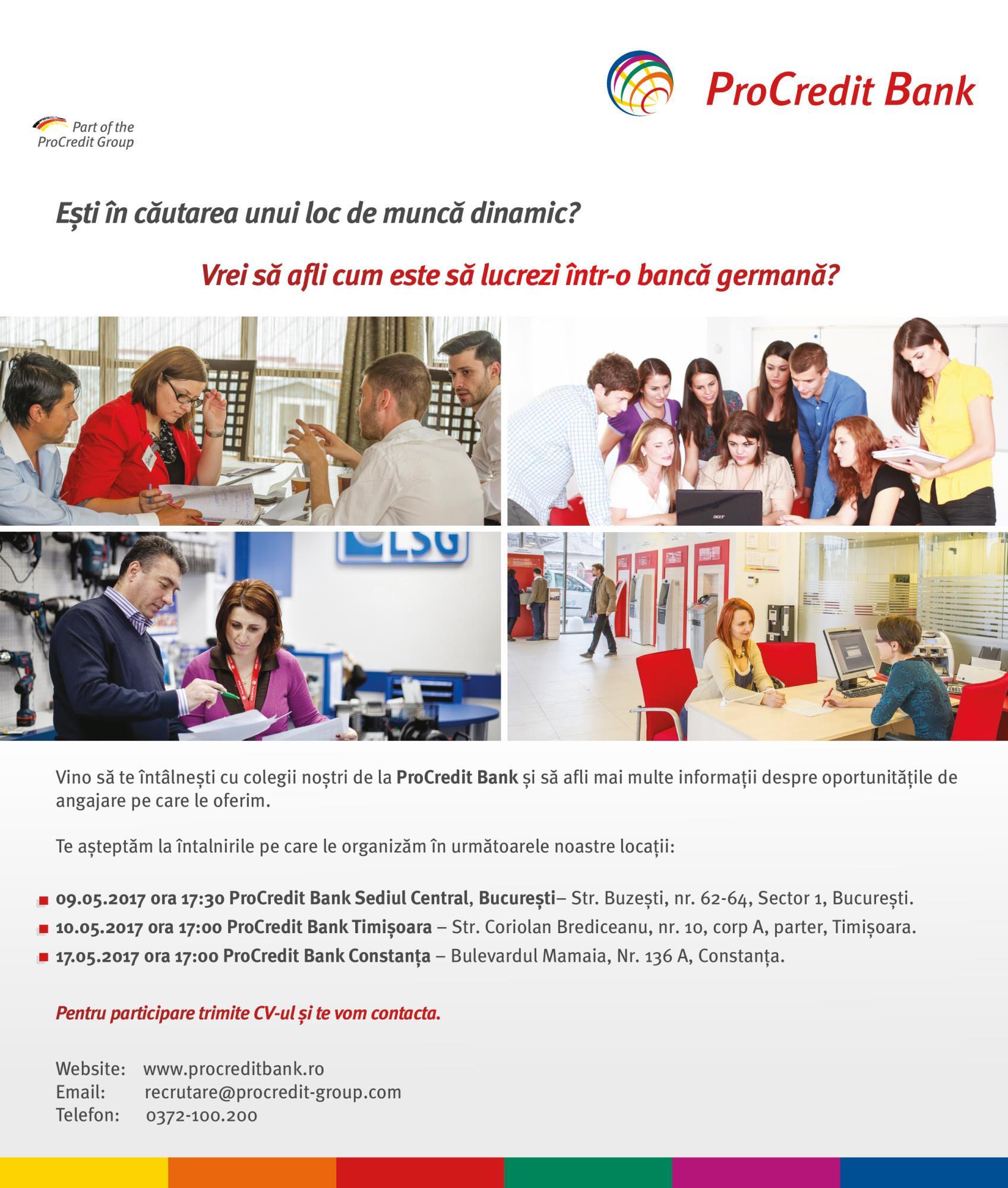 Află cum poți începe o carieră la ProCredit Bank!