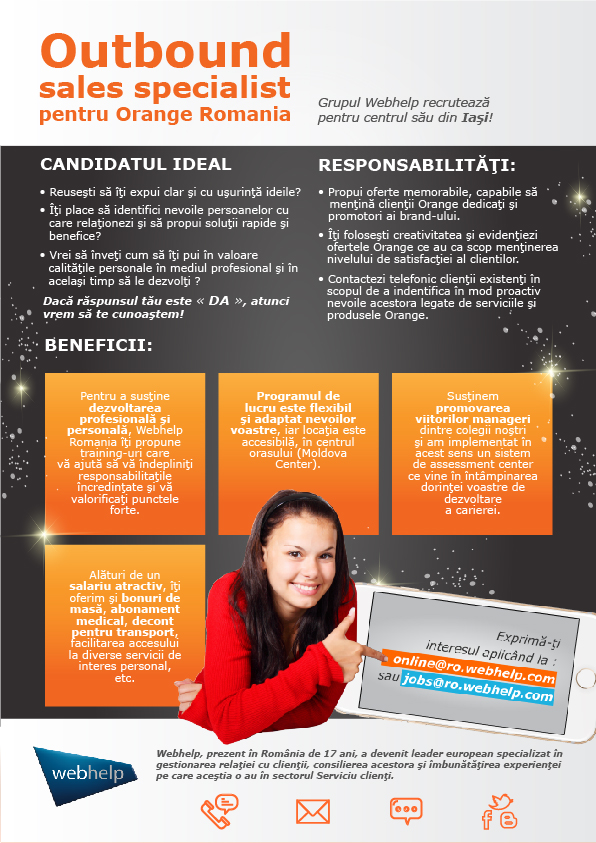 Outbound sales specialist pentru Orange Romania